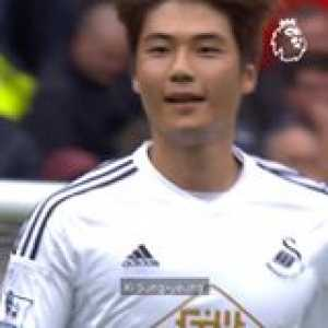 The first goal on a memorable day for Swansea City Football Club! 😃  PL GoalOfTheDay