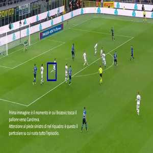 The decision to award the goal to Inter by VAR was correct despite the doubts over the still image.