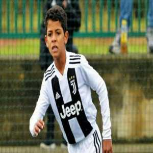 Cristiano Ronaldo Junior for Juventus U9's - It's still too early to say if he'll become a good footballer but he's bagging plenty of goals
