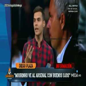 "Diego Plazas (Chiringuito/La Sexta): ""José Mourinho would be interested in becoming Arsenal's next manager"""