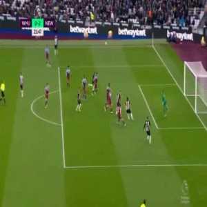 West Ham United 0-[2] Newcastle United : Federico Fernandez 22'