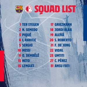 Arthur dropped for the second time in two games. Isn't selected for Slavia Prague match.