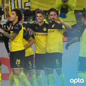 [OptaFranz] 1 - For the first time in their Champions League history, Borussia Dortmund turned a 0-2 deficit into a win. Insanity. @BlackYellow #BVBInter #UCL #ChampionsLeague