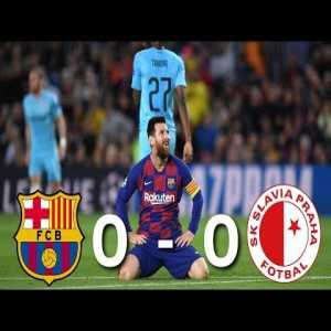 Barcelona vs Slavia Prague [0-0], Champions League, Group Stage 2019/20 - MATCH REVIEW