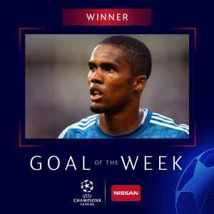 Douglas Costa wins UEFA Champions League Goal of the Week