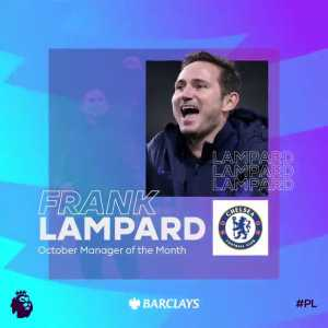 Frank Lampard wins @BarclaysFooty Manager of the Month for October