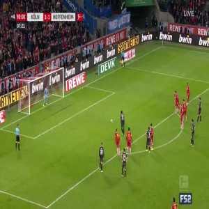 Köln 1-[2] Hoffenheim - Locadia 90'+8' (PK)