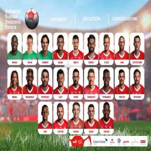 Switzerland's squad for the upcoming matches against Georgia (H) & Gibraltar (A)