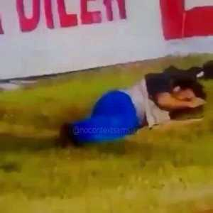 A Samsunspor fan climbing the roof of the stadium and falling down, breaking his foot, in order to distract the opponent's penalty taker (Samsunspor were 1-0 up and their opponents won a penalty in the 90th min). The player did miss, and Samsun won 1-0.