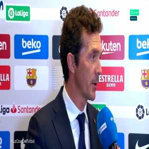 "Guillermo Amor (Barca director): ""Messi is extraordinary but the team as a whole has been very good today. Valverde is a great guy, a great professional and everyone is delighted with him; I think there is not much else to say."""