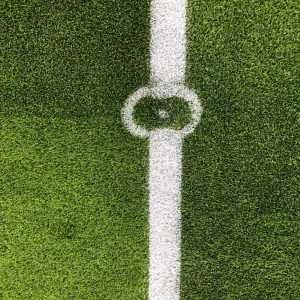 Leicester have mowed a poppy into the centre circle for their game against Arsenal.