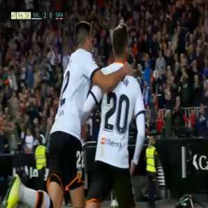 Valencia [2]-0 Granada : Ferran Torres 90'+7' (Jasper Cillessen throw assist)