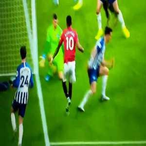 Marcus Rashford great skill vs Brighton
