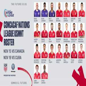 USMNT roster announcement for Nations League games vs Canada/Cuba