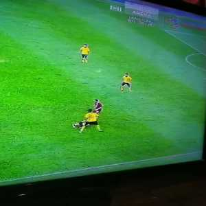Brilliant tackle during Malaysia vs Thailand World Cup Qualifier