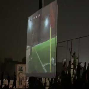 Celebrations in Iraq after a last minute winning goal against Iran, just one month after the protesting travesty