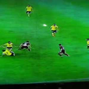 Innovative Tackle by Malaysian defender