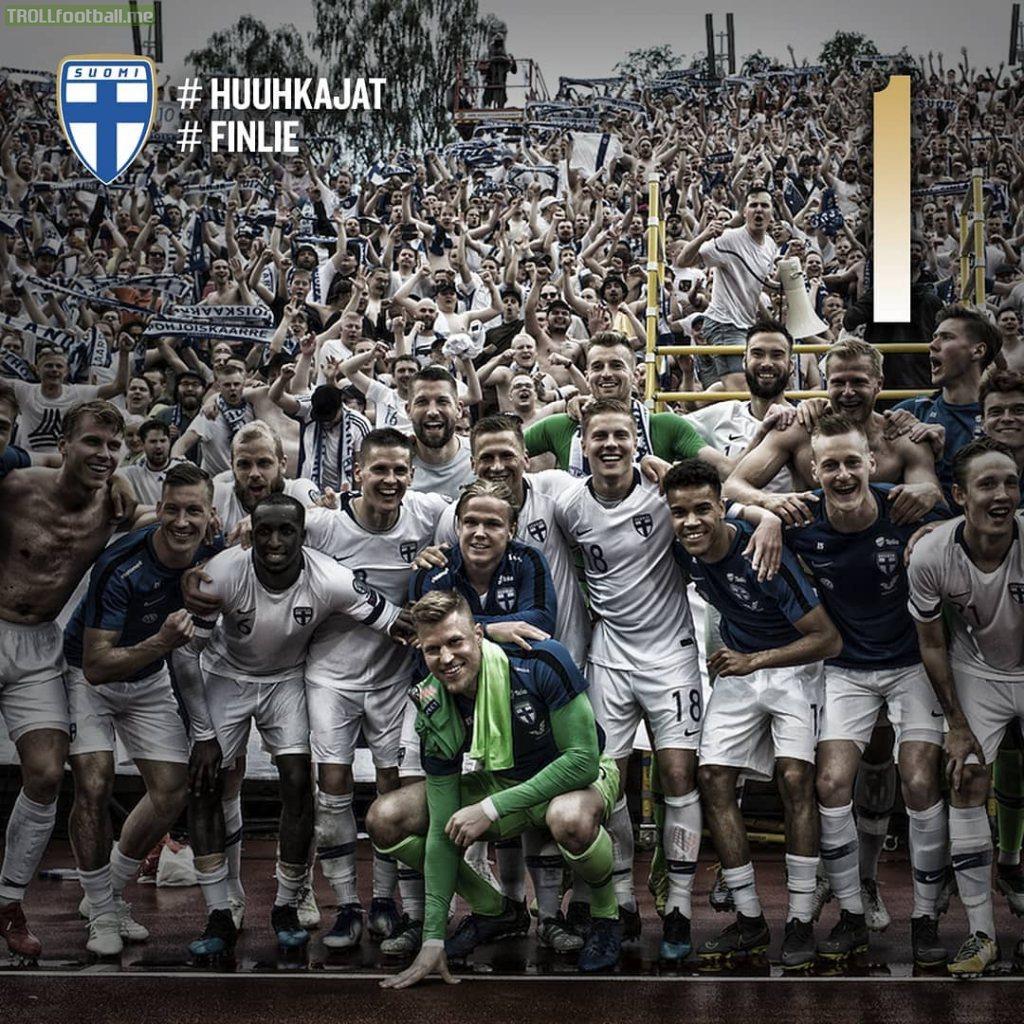 On Friday Finland will play Lichtenstein, ranked lowest in the group. If Finland win the game they'll be going to the Euros for the first time in the nation's history!