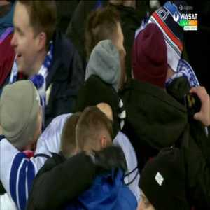 The moment Finland qualify for Euro 2020, pitch invasion and interviews from Teemu Pukki and Markku Kanerva, amazing scenes for Finnish football.