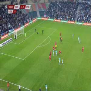 Chaos in the Israel - Poland match