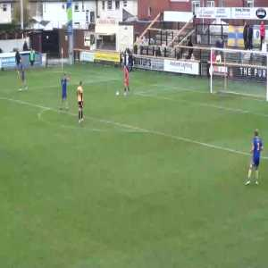 Kings Lynn Town Scored this to go top of the National League North. 21 Passes ... wow.
