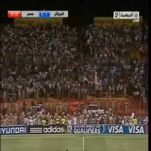 10 years ago today, Anthar Yahia scored this magical volley in a tense World Cup playoff against Egypt to qualify Algeria to the World Cup after a 24-year absence