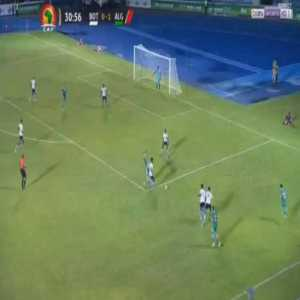 Dangerous tackle by Botswana midfielder Gaogangwe on Algeria's Youcef Atal in 2021 Africa CUp qualifiers, he only received a yellow card for it