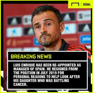 Luis Enrique has returned to the position of Spain head coach.