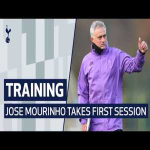 Jose Mourinho's first training session with Spurs.