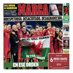 Marca front cover on Gareth Bale: 'Disrespectful. Wrong. Ungrateful. In that order.'