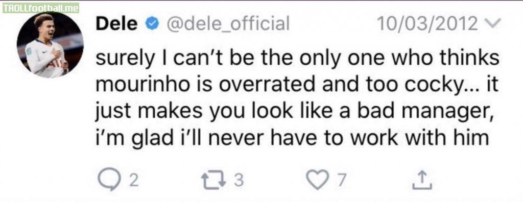 Dele Ali having to delete old tweets
