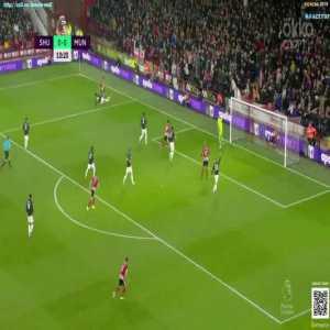 David de Gea double save vs Sheffield United