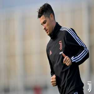Juventus: Cristiano Ronaldo back training with the squad. De Ligt, Bernardeschi and Douglas Costa injured in yesterday's match against Atalanta.