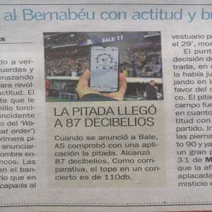 Whistle reached 87 decibel when Bale was announced, as comparison, concerts reach up to 110db. [AS]