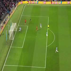Ederson mistake against Shakhtar nearly results in a goal.