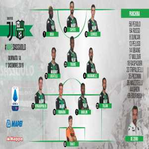 18 year-old Stefano Turati makes his professional debut in goal for Sassuolo against Juventus