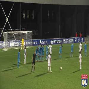 Rayan Cherki's double with OL's reserve team with a wonder of a fk