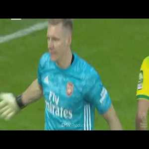 Bernd Leno MOTM vs Norwich City 1/12/19 (Away) | Arsenal vs Norwich City