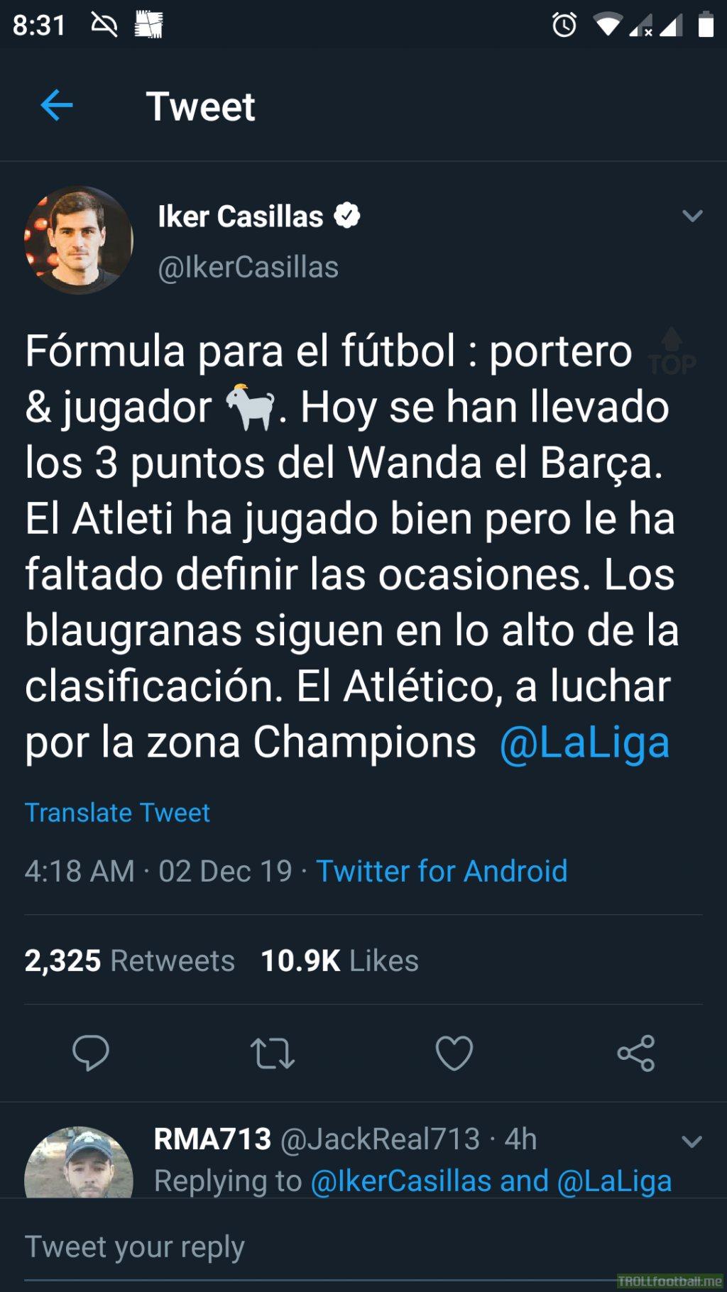 Casillas on Messi and ter Stegen.