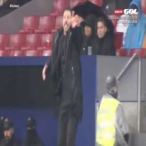 Diego Simeone expressing 5 stages of grief when Messi scored yesterday