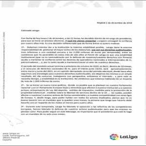 Javier Tebas resigns as president of LaLiga