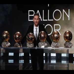 Leo Messi wins the Ballon d'Or for a record sixth time