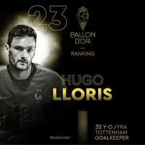 Lloris ranked above Ter Stegen in the Ballon d'Or