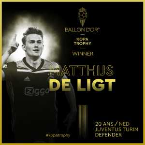 Matthijs de Ligt is the 2019 Kopa Trophy winner!