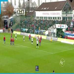Great free kick and save in Germany's 3rd league [1860 Munich - Unterhaching]