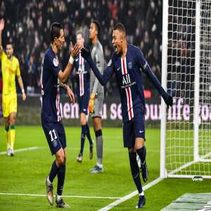 Kylian Mbappé has equalled Carlos Bianchi's goal tally for PSG with 71 goals in 101 apps, entering PSG's top 10 ever goalscorers.