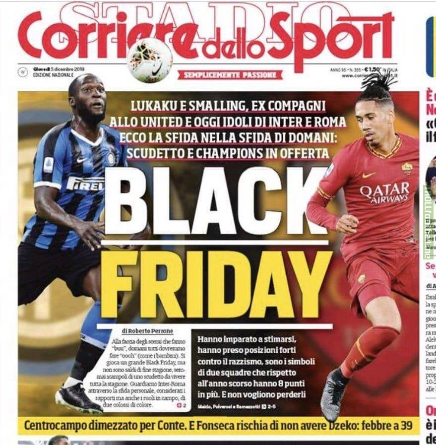 Corriere dello Sport - one of Italy's biggest sporting newspapers - decided to run this as a headline.