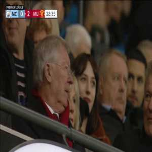 Sir Alex Ferguson's reaction tops it all as Anthony Martial scores United's second goal at Etihad