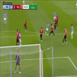 Victor Lindelof's last ditch block on De Bruyne's shot (Man City vs Man United)