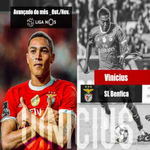 Benfica's Vinicius wins the award for best striker in the Liga NOS for October and November